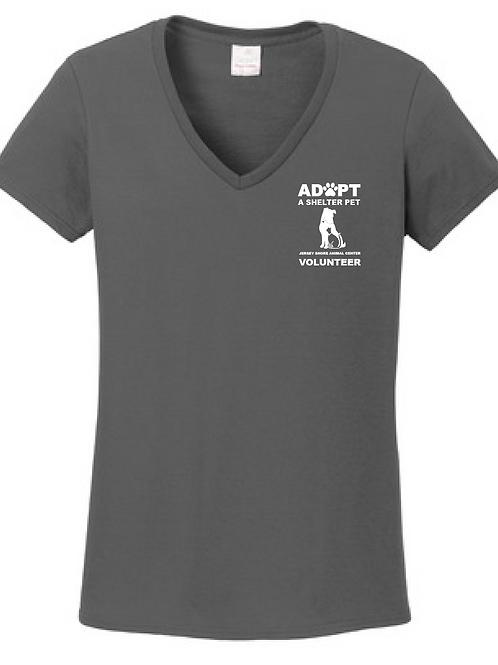 Jersey Shore Animal Center VOLUNTEER V-Neck T-Shirt