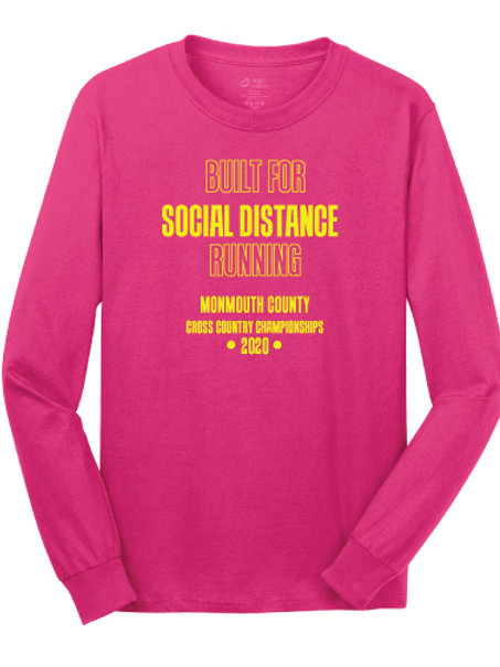 Monmouth County XC LS T-Shirt (Pink)