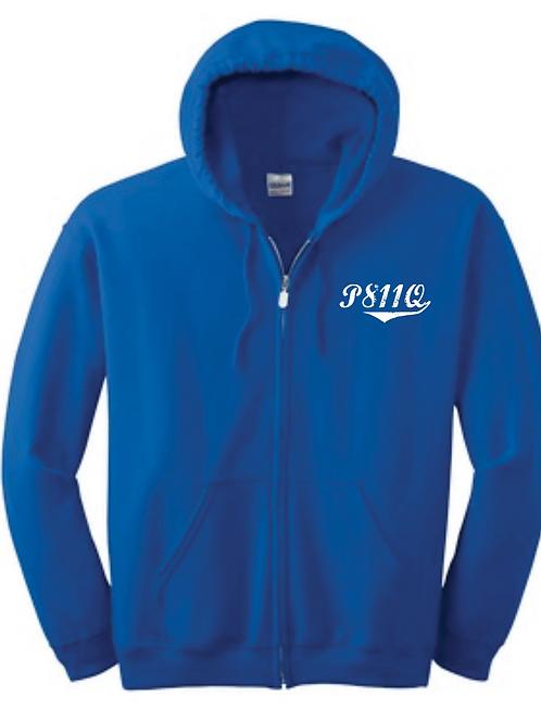 P811Q Full Zip Hooded Sweatshirt