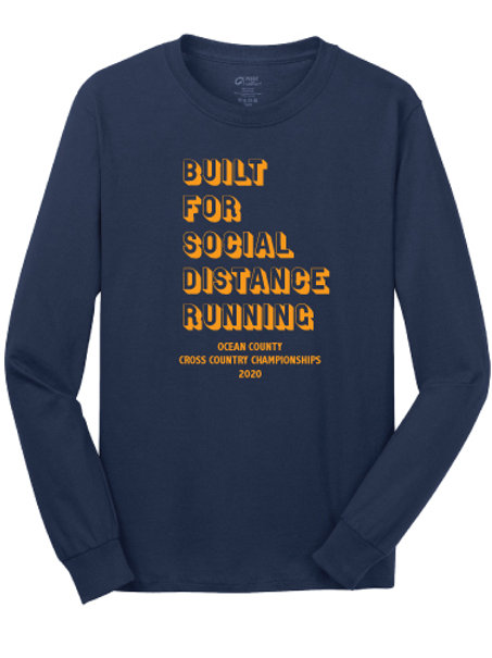 Ocean County XC LS T-Shirt (Navy)