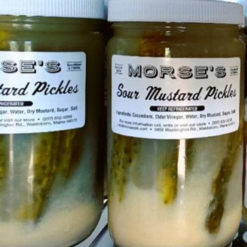 Garlic Sour Pickles , Morse's Sauerkraut
