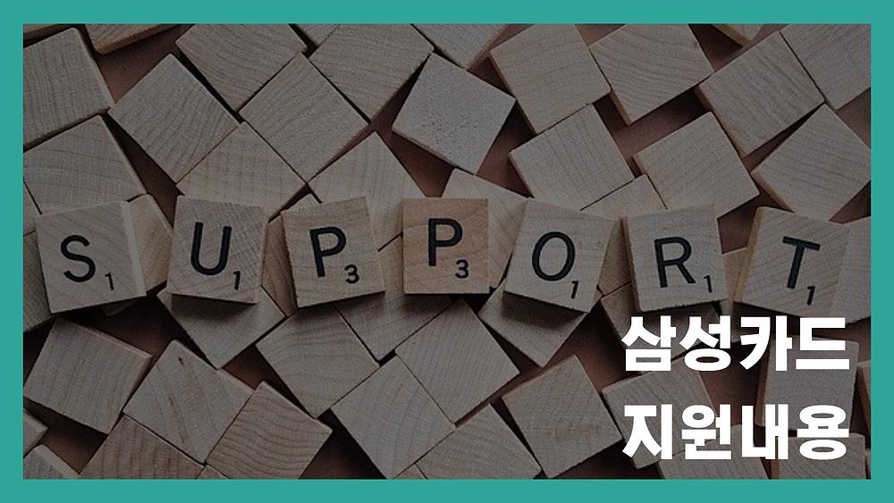 삼성카드 지원내용