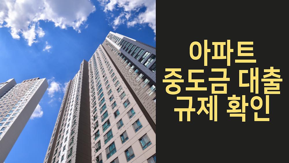 아파트 중도금 대출 규제 확인