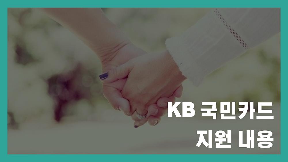 KB 국민카드 지원 내용