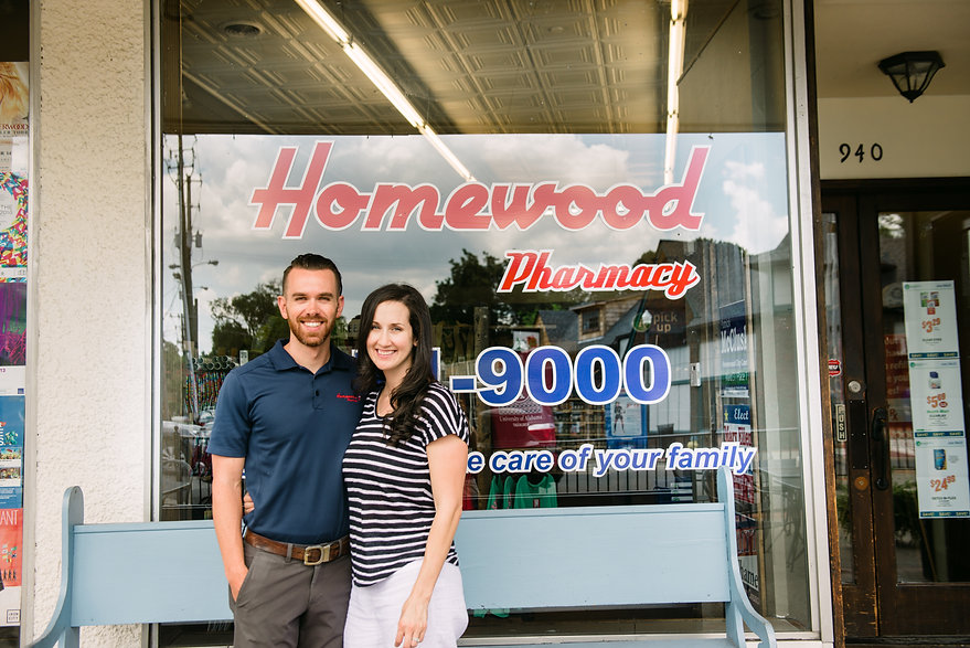 Homewood Pharmacy meet the owners, ryan and damaris hamilton