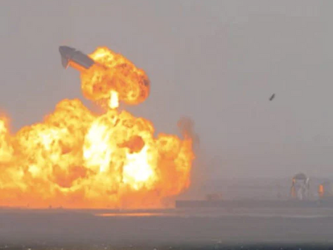 Elon Musk's SpaceX Starship Lands, Then Explodes