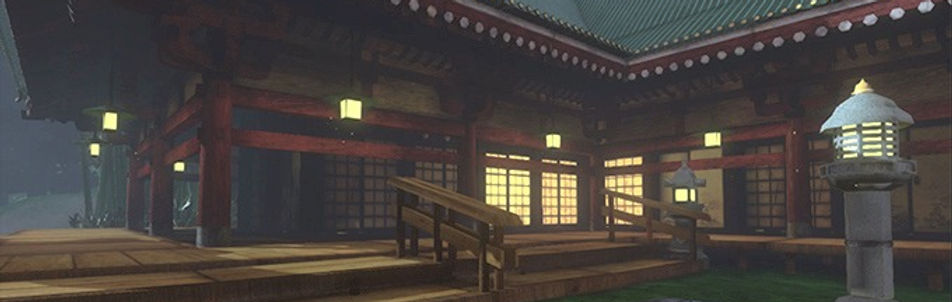 Japan Lake Temple 3D environment