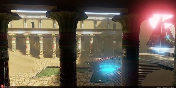 Aton's Throne 3D environment on UE4