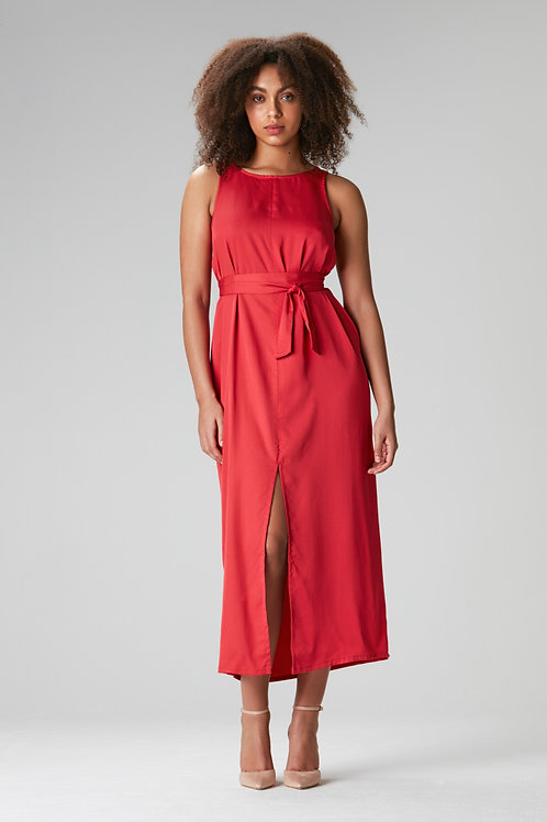 "Maxidress ""Tulpina""red"