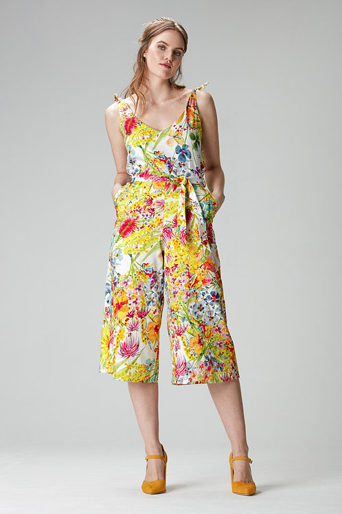 """Floral jumpsuit """"Lea""""made of Tencel and organic cotton"""