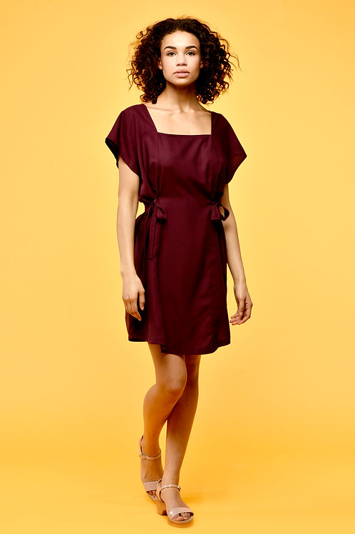 POPPY dress onesize bordeaux