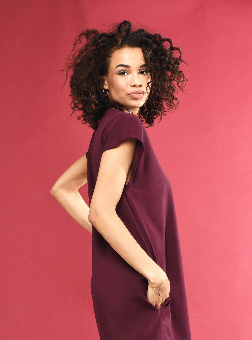 Our Tencel dress Viola is a summer daily super hero, onesized, loose fit, size 36-42