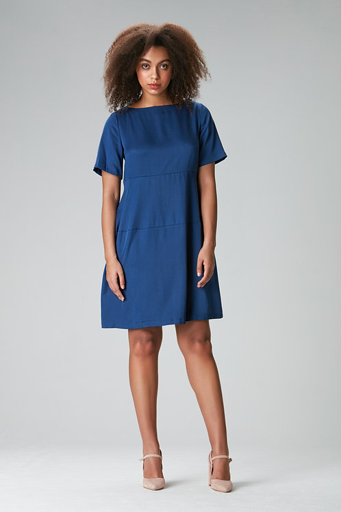 "Blue Tencel dress ""Lola"""