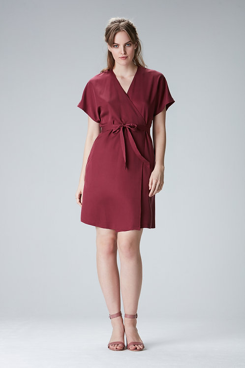 "Bordeaux wrapdress ""CARMEN"" made of Tencel"