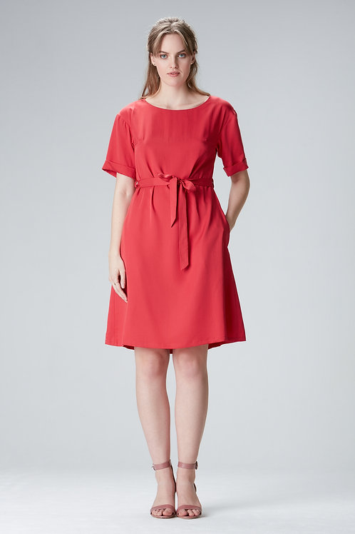 "Red Tencel dress ""EDDA"""