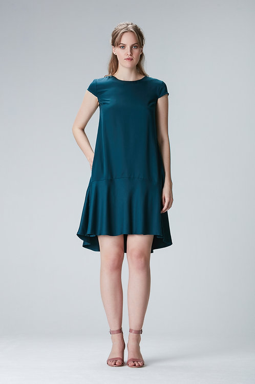 "Volantdress ""KARLA"" made of Tencel in green"