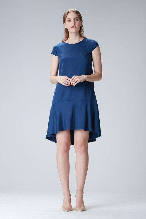 "Volantdress ""KARLA"" made of Tencel in blue"