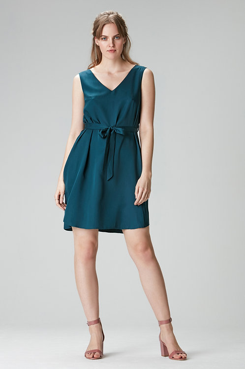 LEONA Tencel dress green