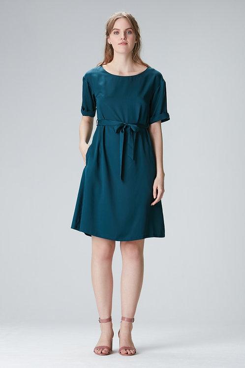 "Green Tencel dress ""EDDA"""