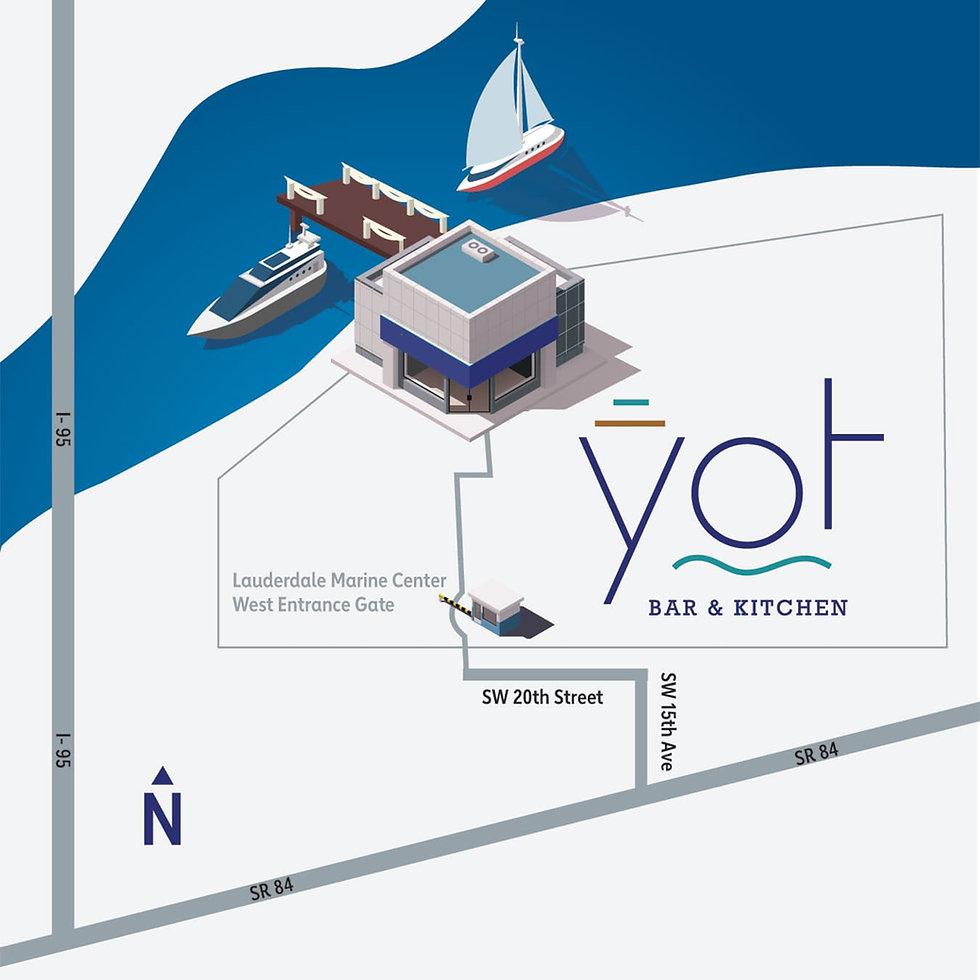 YOT Bar & Kitchen - Driving Directions 09-25-2020