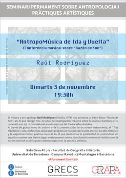 """Conferencia y presentación de """"Razón de Son"""" en Barcelona"""