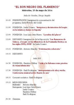 Seminario en la Universidad de Sevilla: El Son Negro del Flamenco