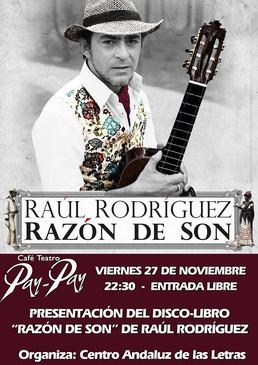"""Conferencia presentando """"Razón de Son"""" en el Pay-Pay de Cádiz"""