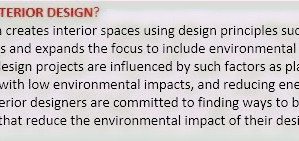 What is Sustainable Interior Design?
