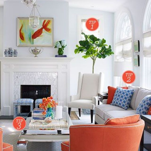 Balanced accent colours enhances the fresh and airy look