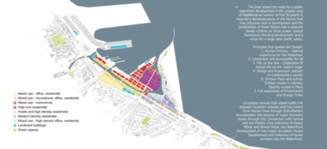 Urban Design - Proposal Urban Waterfront Port Elizabeth