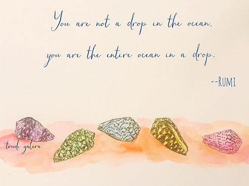 You Are Not a Drop in the Ocean Art Poster