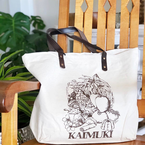 Deluxe Kaimukī Tote with Leather Straps