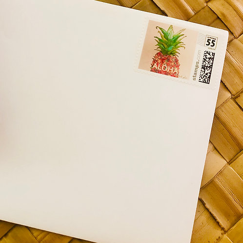 Aloha Pineapple Stamp SET OF 10