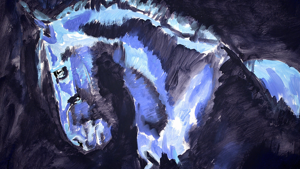 """""""Dark Horse With Blue"""""""