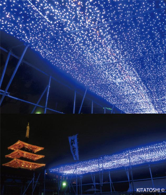 Lighting designer Kitatoshi's work (illumination design)