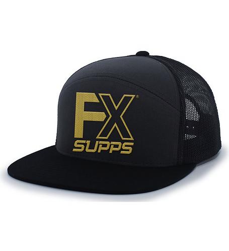 """FX SUPPS """"OG"""" 7 Panel Snapback- Black"""