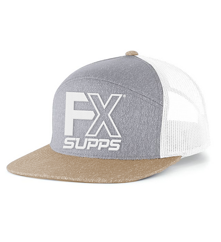 "FX SUPPS ""OG"" 7 Panel Snapback- Cream"