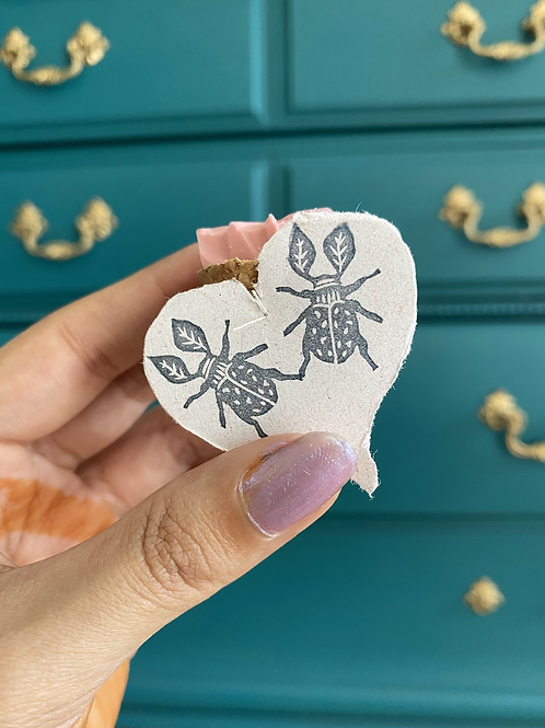 Hand carved stamp by Papers & Flowers