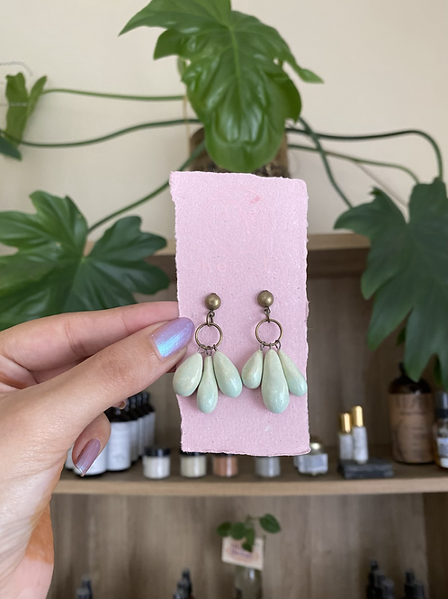 3 of Tears earrings by Hearts Ceramic