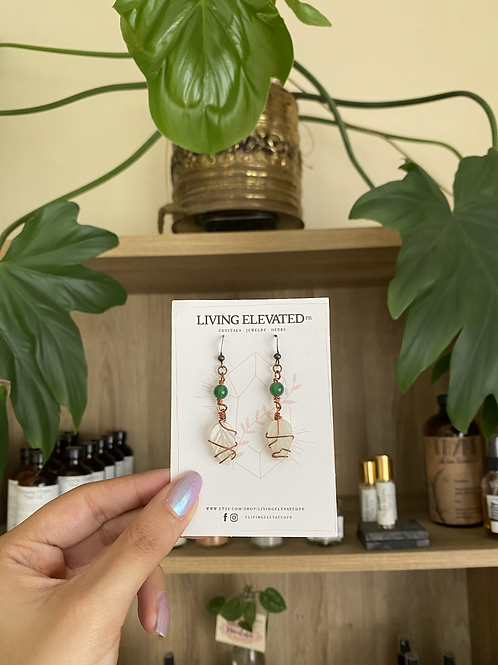 Just a Phase leaf earrings by Living Elevated