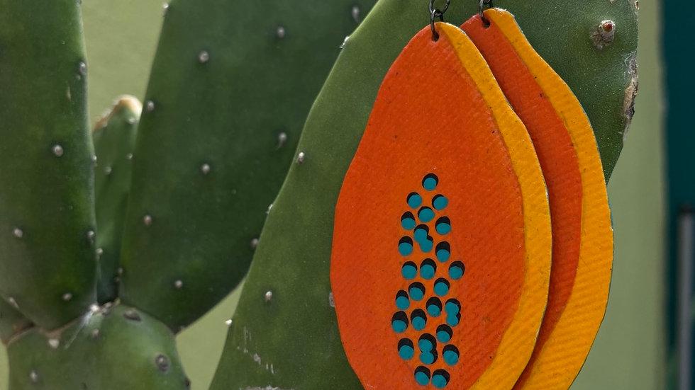 Papaya Earrings -Papel Natura