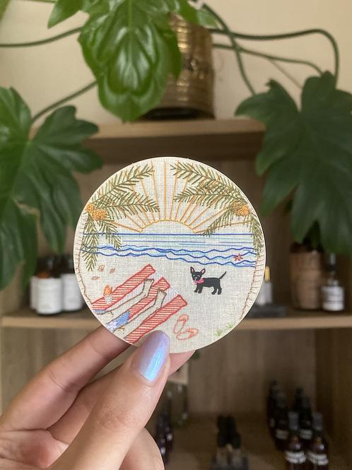Boricua Sunset sticker   Eme del Mar