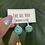 Thumbnail: Embroidered earrings   Eme del Mar
