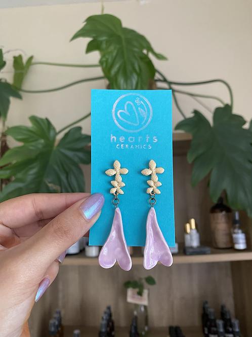 Hojita heart earrings by Hearts Ceramics