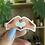 Thumbnail: Henna Heart Hands sticker | Ángeles