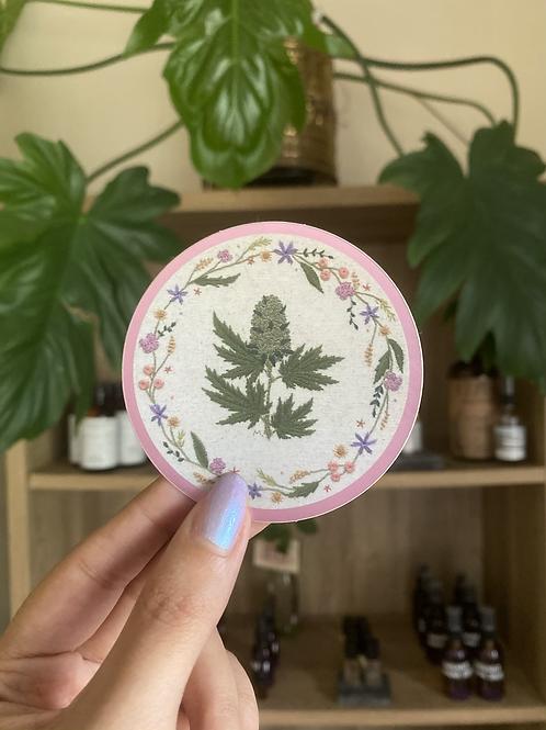 Weed Flower sticker | Eme del Mar