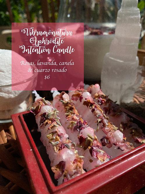 Aphrodite Intention Candle Vibramonatura