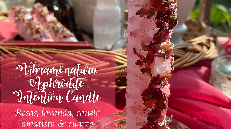 Aphrodite Intention Candle XL Vibramonatura