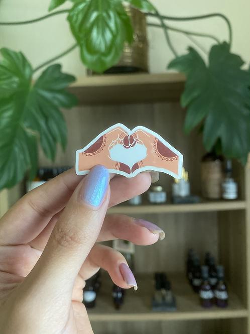 Henna Heart Hands sticker | Ángeles