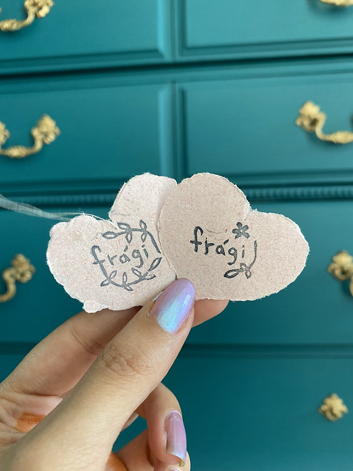 Frágil hand carved stamps by Papers & Flowers